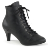 DIVINE-1020 Black Faux Leather